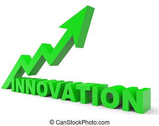gráfico, inovação, cima, arrow.