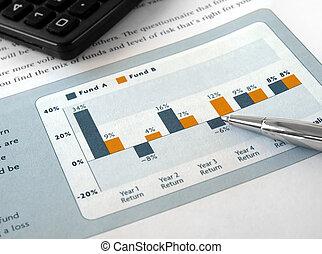 gráfico, inversión