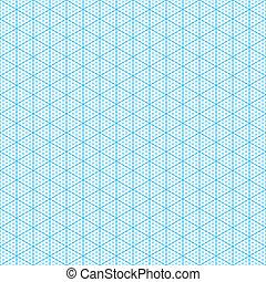 gráfico, isométrico, papel