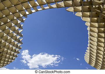 gráfico, la, metropol, 31, praça, detalhe, textura, maio, de, encarnacion, 2014, sevilla, parasol