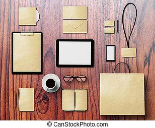 gráfico, madeira, marcar, cima, superfície, escarneça, desenhistas, identidade