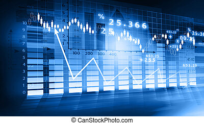 gráfico, mercado de valores
