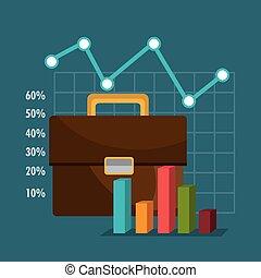 gráfico, mercado, financiero