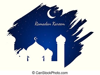 gráfico, mezquita, ilustración