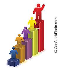 gráfico, negocio corporativo