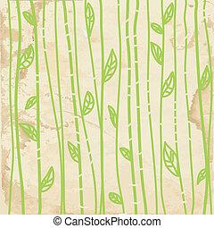 gráfico, padrão, folhas, seamless, textura, papel