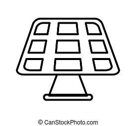 gráfico, panel., energia, vetorial, solar, salvar, design.
