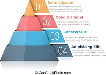 gráfico, pirámide