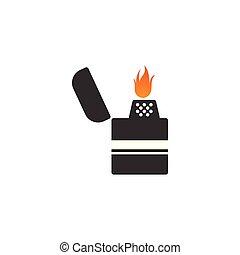 gráfico, plantilla, ilustración, vector, diseño, encendedor, logotipo