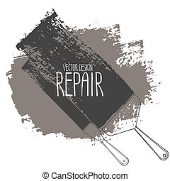 gráfico, reparación, herramientas