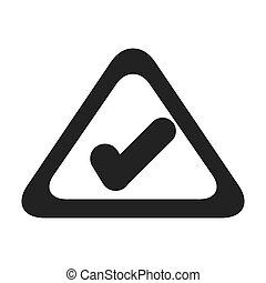 gráfico, sinal, vetorial, marca, chek, ícone