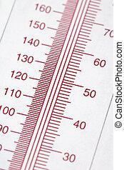 gráfico, termómetro