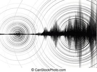 gráfico, terremoto