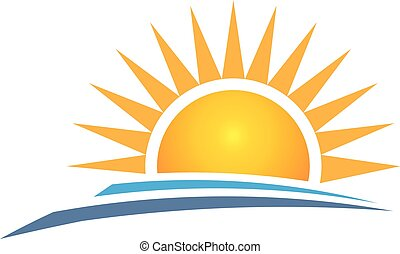 gráfico, vetorial, desenho, logotipo, amanhecer, design.