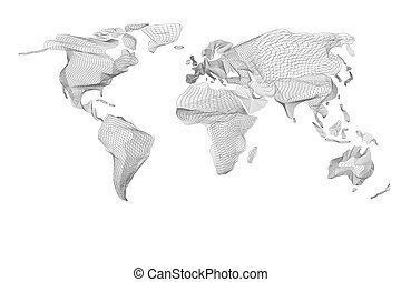 gráfico, vindima, abstratos, map., computador, pretas, mundo, linhas