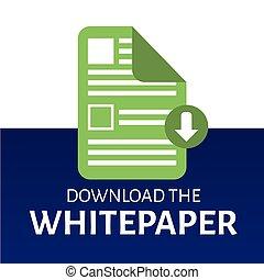 gráfico, whitepaper, ebook, título, cubierta, buttons., ...