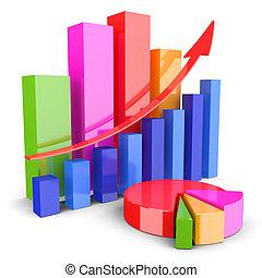 gráficos, análisis financiero