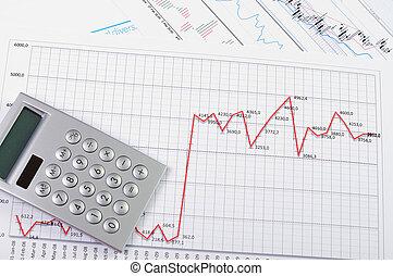 gráficos, e, gráficos, de, vendas