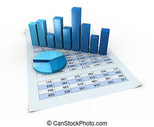 gráficos, e, spreadsheets