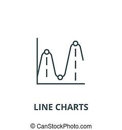 gráficos, gráficos, concepto, símbolo, señal, lineal, vector, icono, línea, contorno