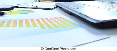 gráficos, gráficos, negócio, tabela., th