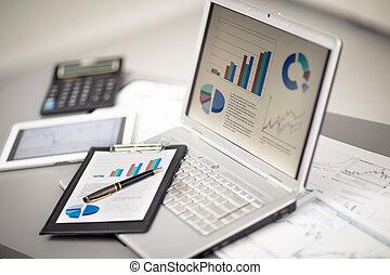 gráficos,  laptop, investimento