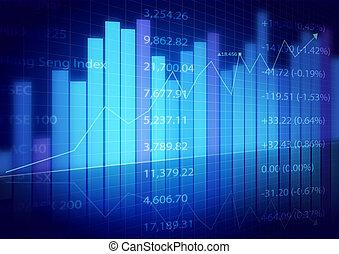 gráficos, mercado, estoque
