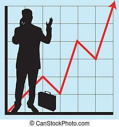 gráficos, para, negócio, uso