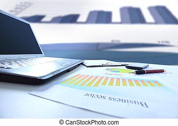 gráficos, tabla, gráficos, empresa / negocio