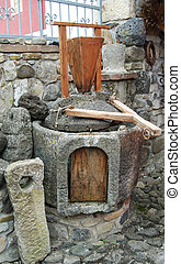 grán, šprtat, mlynské kámeni, rukopis