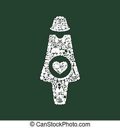 grávida, ícone