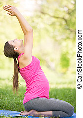 grávida, condicão física