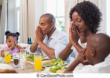 grâce, famille, avant, m, proverbe, heureux