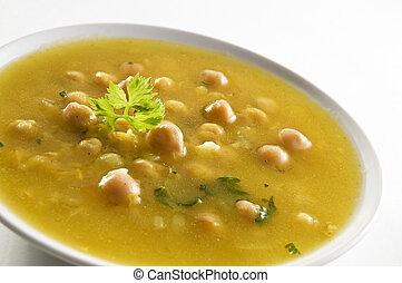 grão-de-bico, sopa