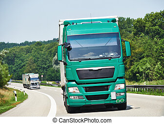 gränd, gripande, lorry, släpvagn
