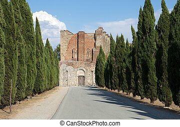 gränd, san, abbotskloster, galgano