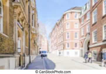 gränd, uk, tempel, mitt, defocused, bakgrund, london