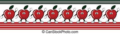 gräns, äpplen