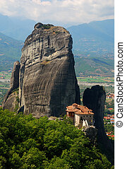 gränsmärke, meteora, kloster, grekland