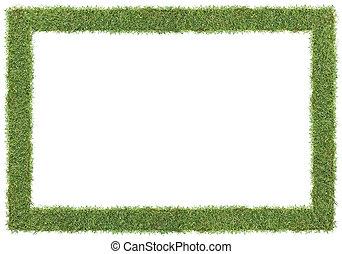 gräs, ram