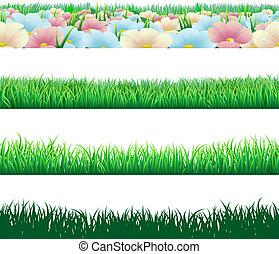 gräs, seamless, elementara