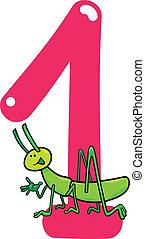 gräshoppa, numrera en