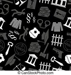 grå, eps10, rättvisa, mönster, seamless, lag