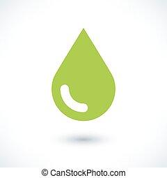 grå, färg, droppe, grön, skugga, vit, ikon