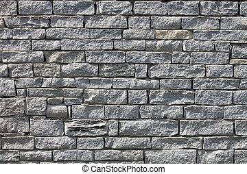 grå, grunge, vägg, yta, struktur, bakgrund, tegelsten