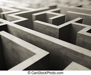 grå, labyrint