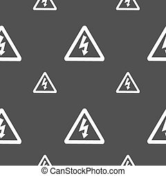 grå, mönster, skylt., seamless, bakgrund., vektor, spänning, ikon