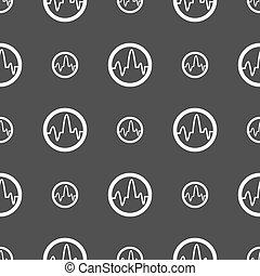 grå, mönster, skylt., seamless, pulsera, bakgrund., vektor, ikon