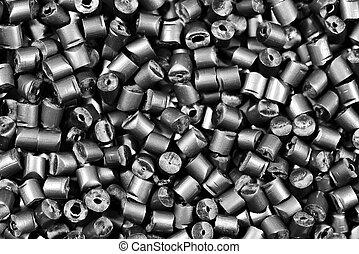 grå, matallic, granulate, polymer