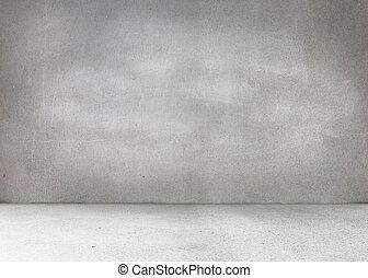 grå, rum